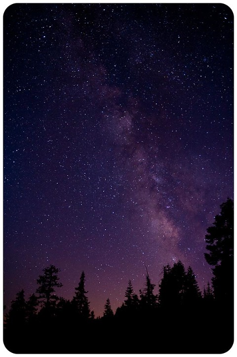 Milky way from Glacier Point, Yosemite National Park
